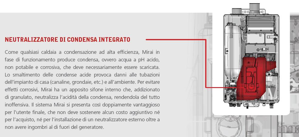 caldaia a condensazione rinnai mirai neutralizzatore di condensa integrato - idrosar srl roma