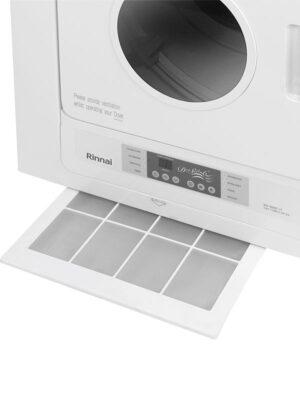 asciugatrice a gas rinnai filtro aria e pannello comandi